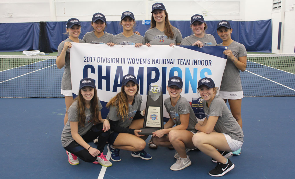 Emory Women's Tennis Knocks Off Pomona-Pitzer to Capture ITA National Indoor Championship
