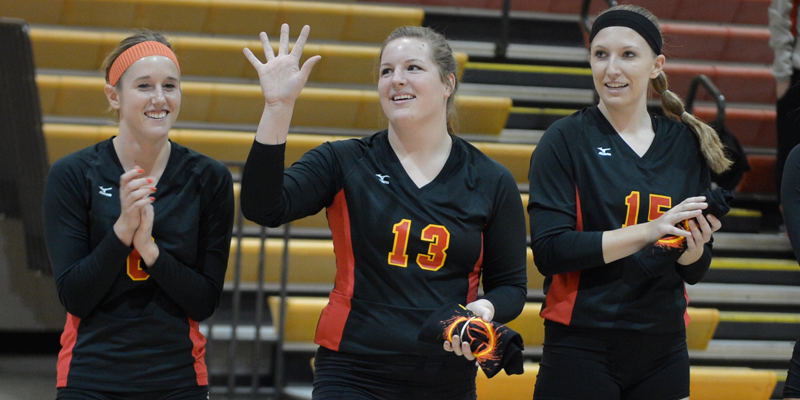 Blaser represents Simpson on All-IIAC volleyball team