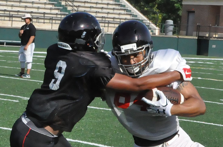 Football: Panthers go through team scrimmage on first day in full pads