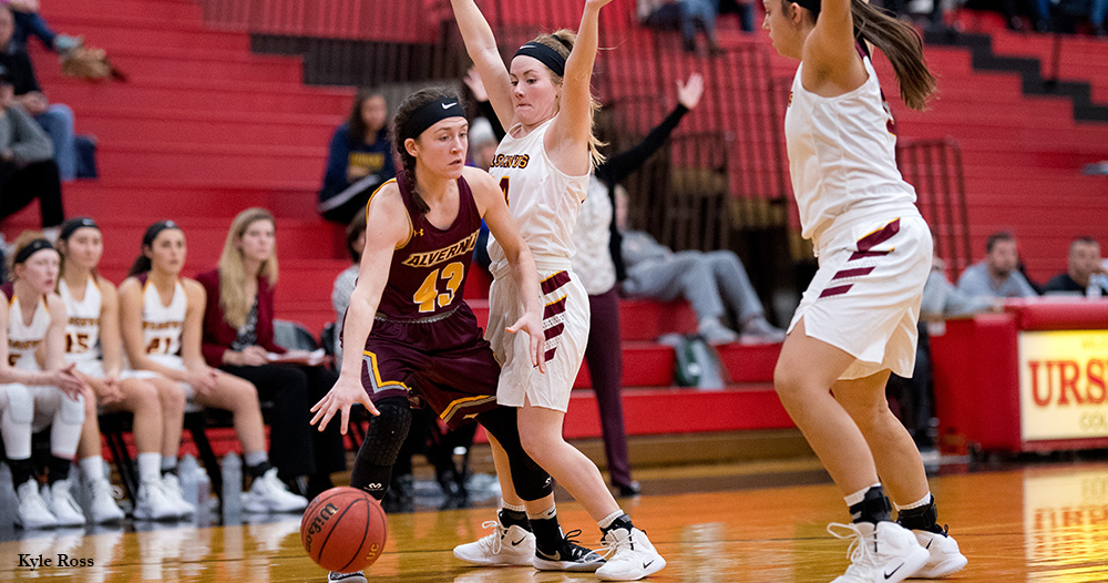 Women's Basketball Steals Win at Swarthmore