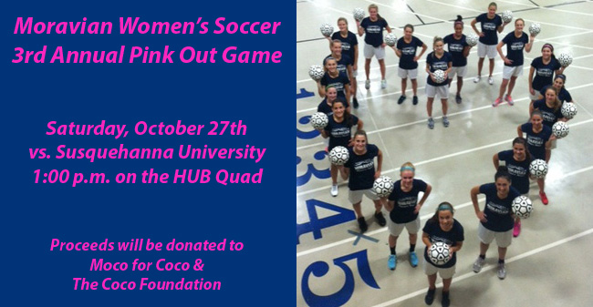 Women's Soccer 3rd Annual Pink Out Game Set for October 27th
