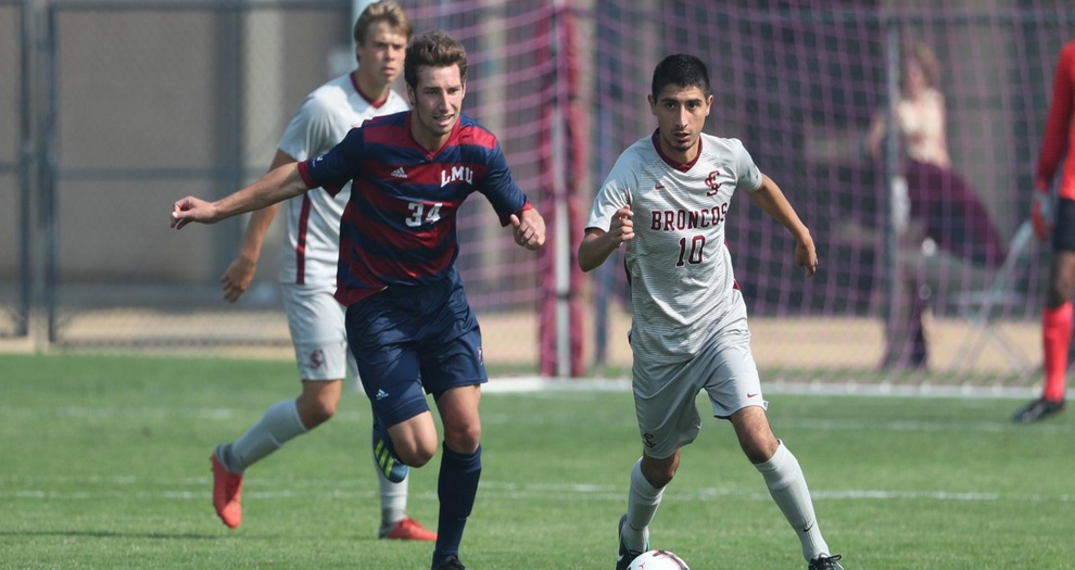 Men's Soccer Drops Gut-Wrencher to LMU in Conference Opener