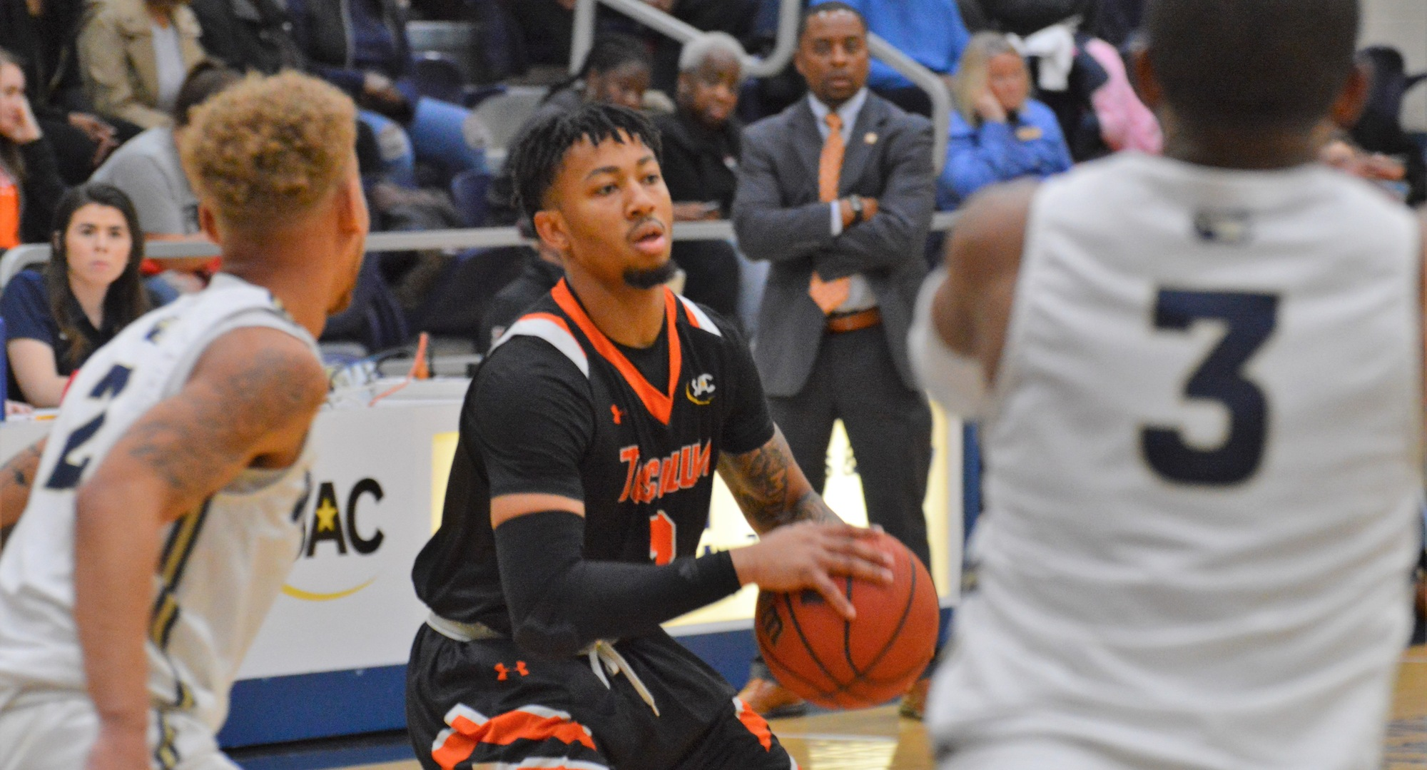 Donovan Donaldson scored a career-high 32 points in Tusculum's 80-77 overtime win at Wingate