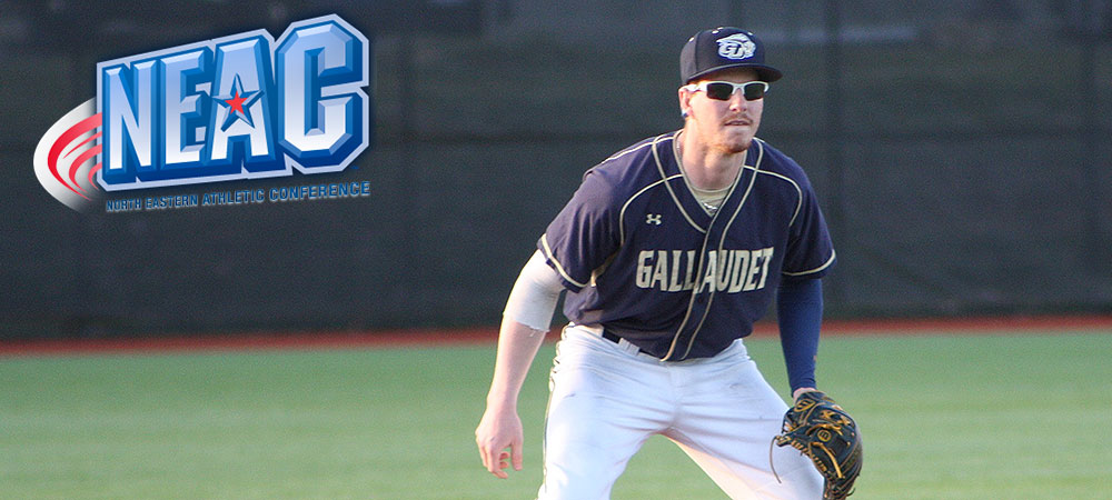 GU's Upton selected as the NEAC Baseball Player of the Week