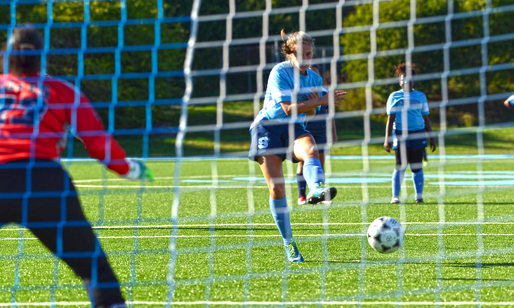 Seven goal outburst powers women's soccer past UTM