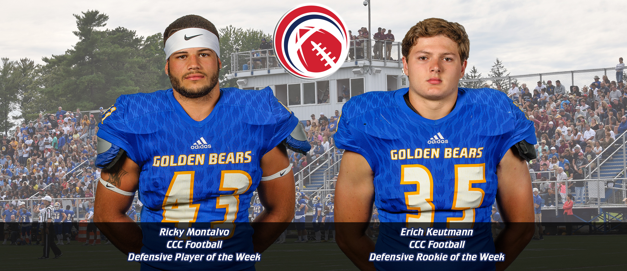 Defensive Duo Earns CCC Football Weekly Honors