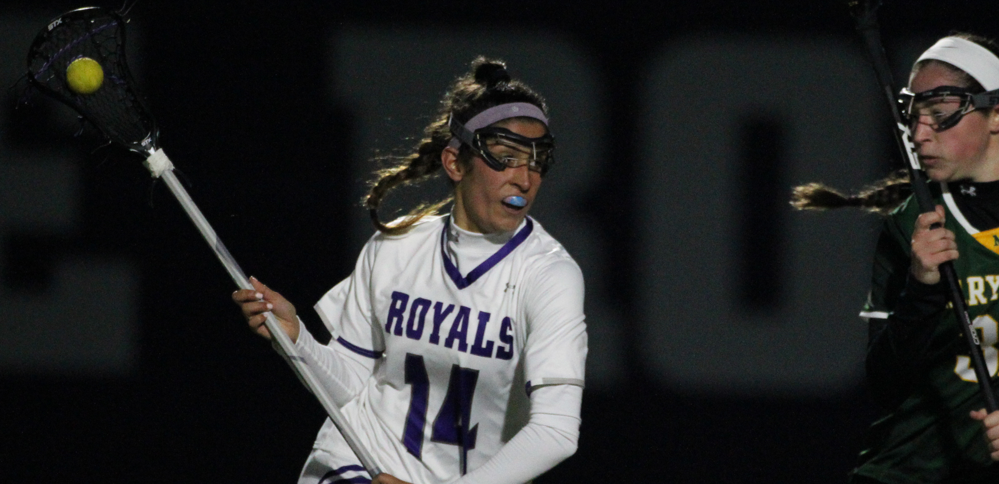 Freshman Halle Conklin scored three goals including the game-winner on Tuesday night as Scranton rallied for an 11-10 win at Rowan. © Photo by Timothy R. Dougherty / doubleeaglephotography.com