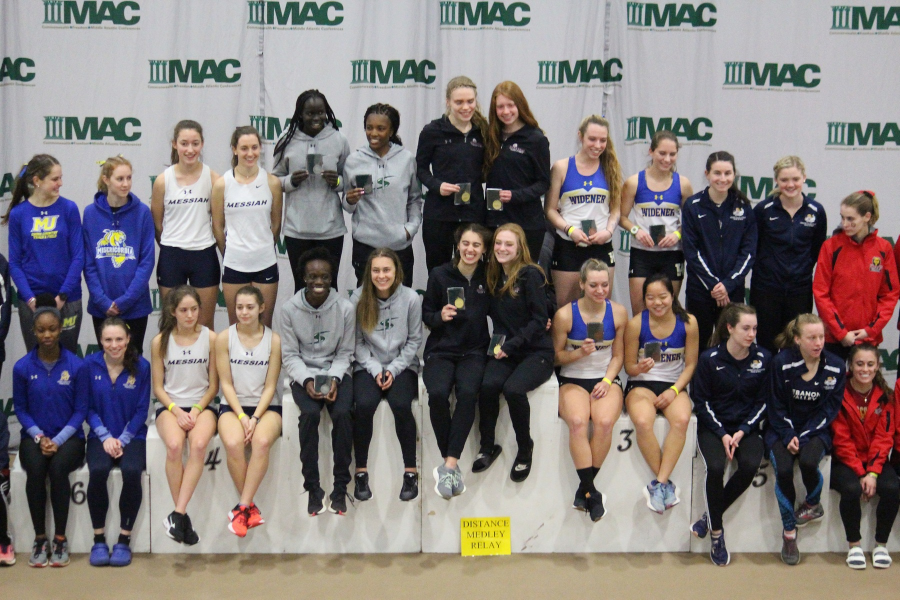 Mustangs Lead the Pack After Day One of MAC Indoor Championships