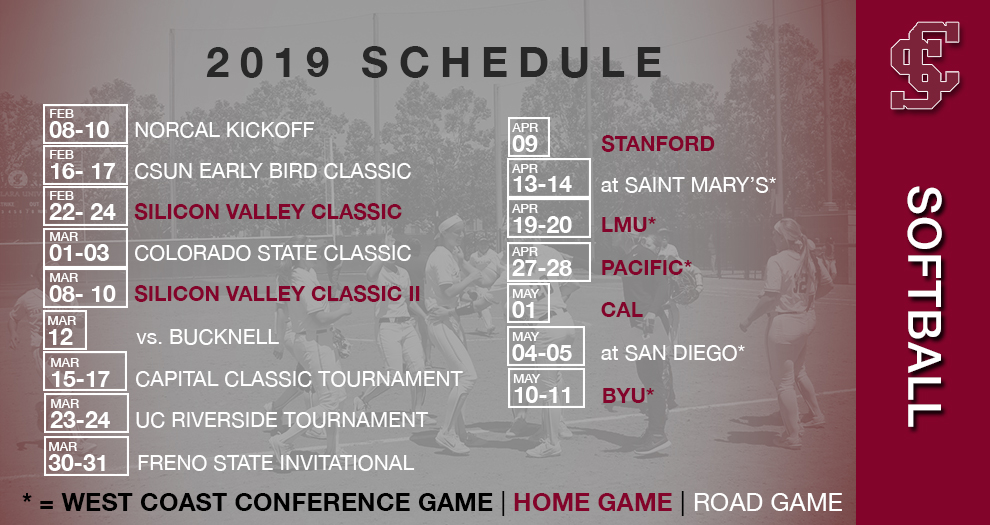 Softball Releases 2019 Schedule