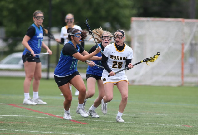 Christie Hahn had four goals and four assists to lead Monroe past Anne Arundel in the national semifinals Saturday. (Photos provided by Daniel Kucin - www.danielkucinphotography.com)