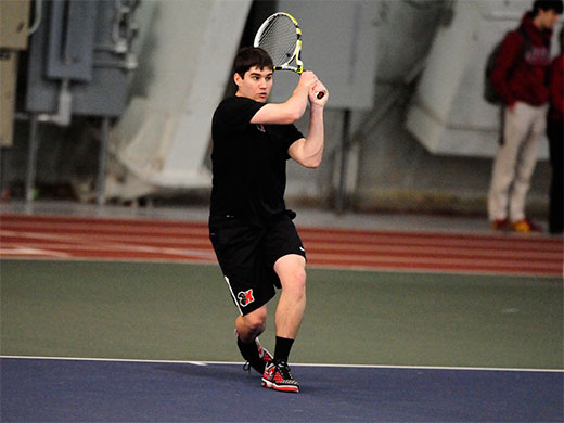 Season finishes in championship final for men's tennis