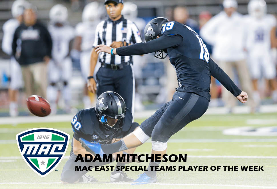 Mitcheson Named MAC East Special Teams Player of the Week