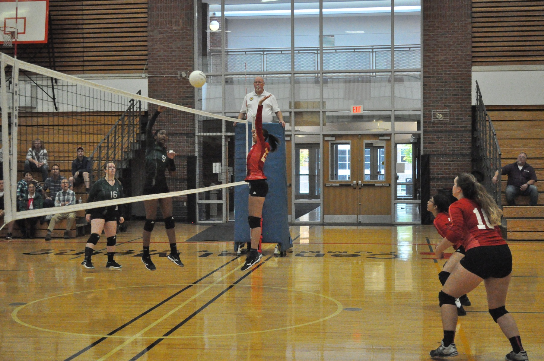 Fighting Saints corral Mustangs in double match