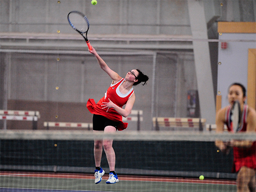 Women's tennis opens spring slate with victory over NYU