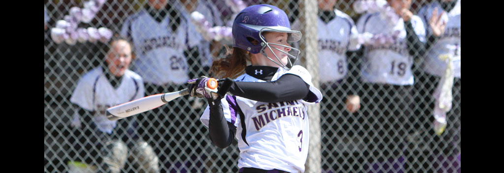 Softball falls twice by 4-1 counts at first-place Saint Anselm