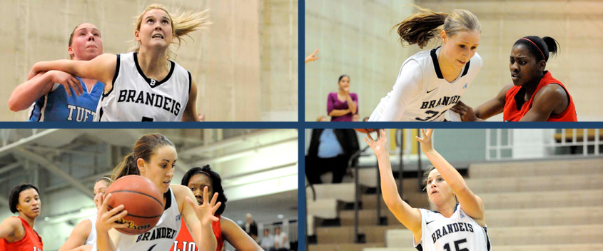Seniors Shannon Hassan, Morgan Kendrew, Diana Cincotta and Kelly Ethier went out in style against NYU