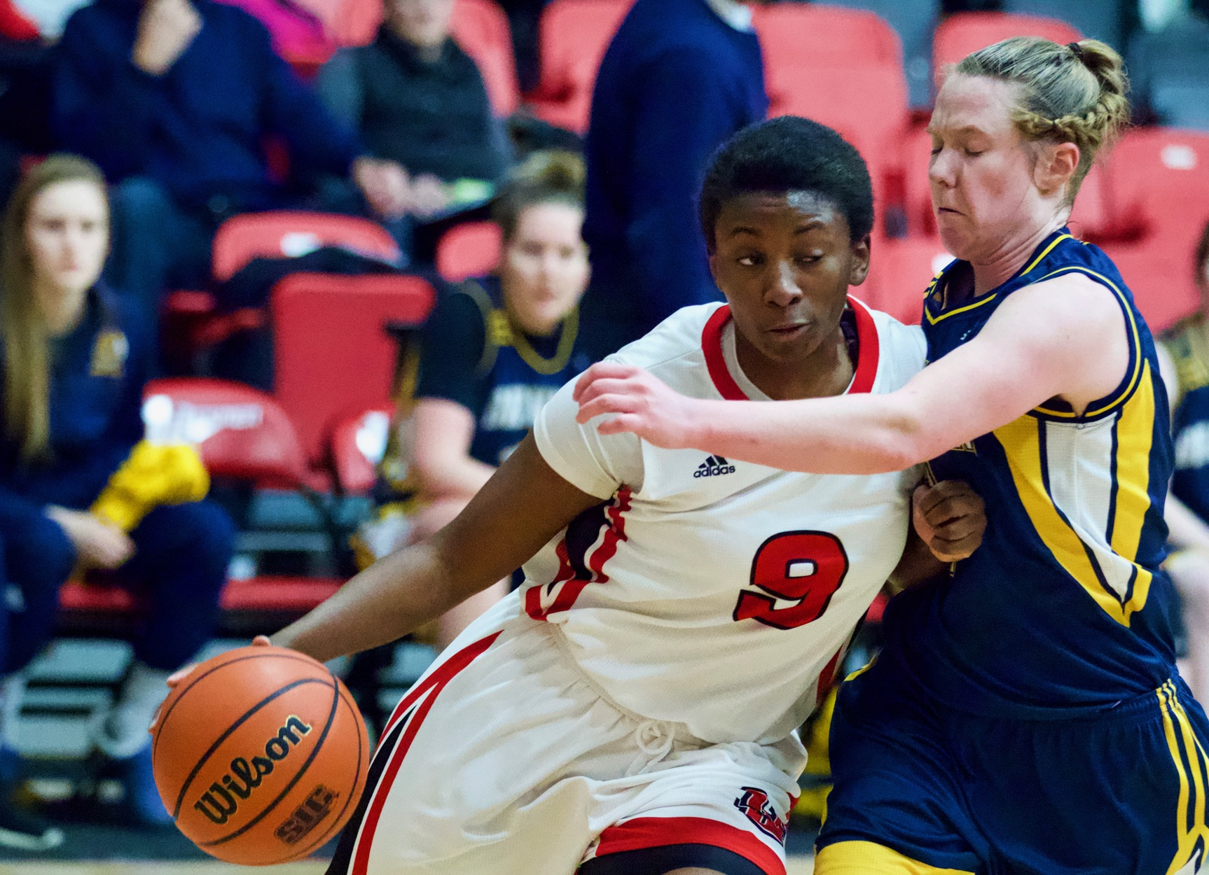 Faith Hezekiah had 29 points and 10 rebounds to lead the Wesmen women's basketball team to a non-conference win over the UNB Reds Saturday, Oct. 5, 2019. (Shanlee McLennan/Wesmen Athletics file)