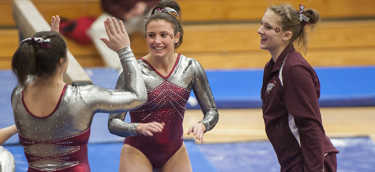 Women's Gymnastics Has Record-Breaking Afternoon at West Chester Dual Meet