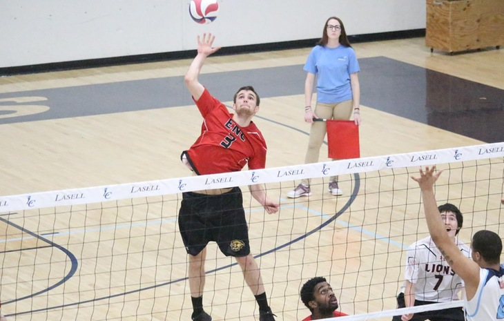 Men's Volleyball Drops Nail-Biter to Dean, 3-2