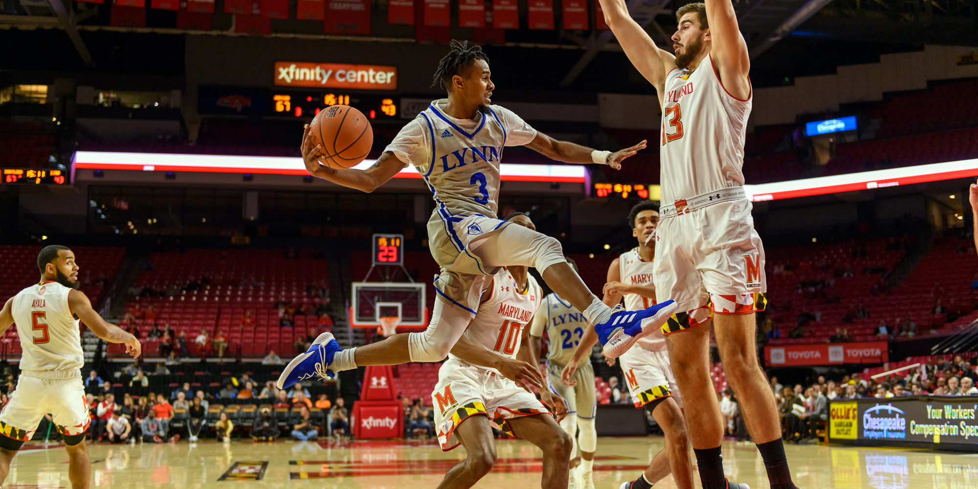 Men's Basketball Falls in Exhibition at Maryland