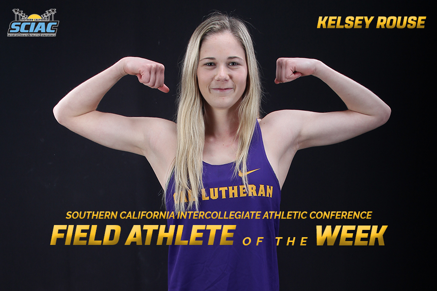 Rouse Earns SCIAC Field Athlete of the Week