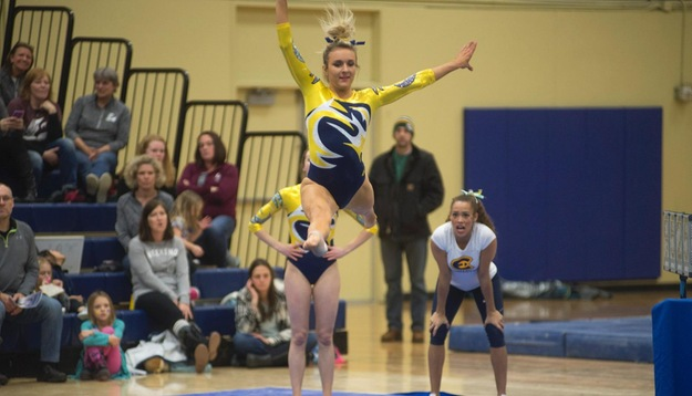 Gymnastics falls to Warriors