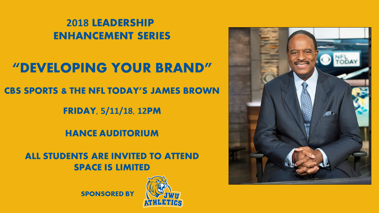 JWU Charlotte Athletics Announces James Brown of CBS Sports as Guest Speaker