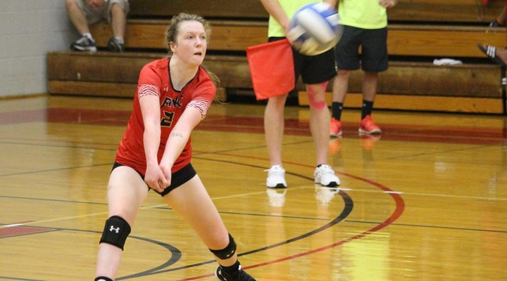 Women's Volleyball Tripped Up at Emmanuel, 3-0