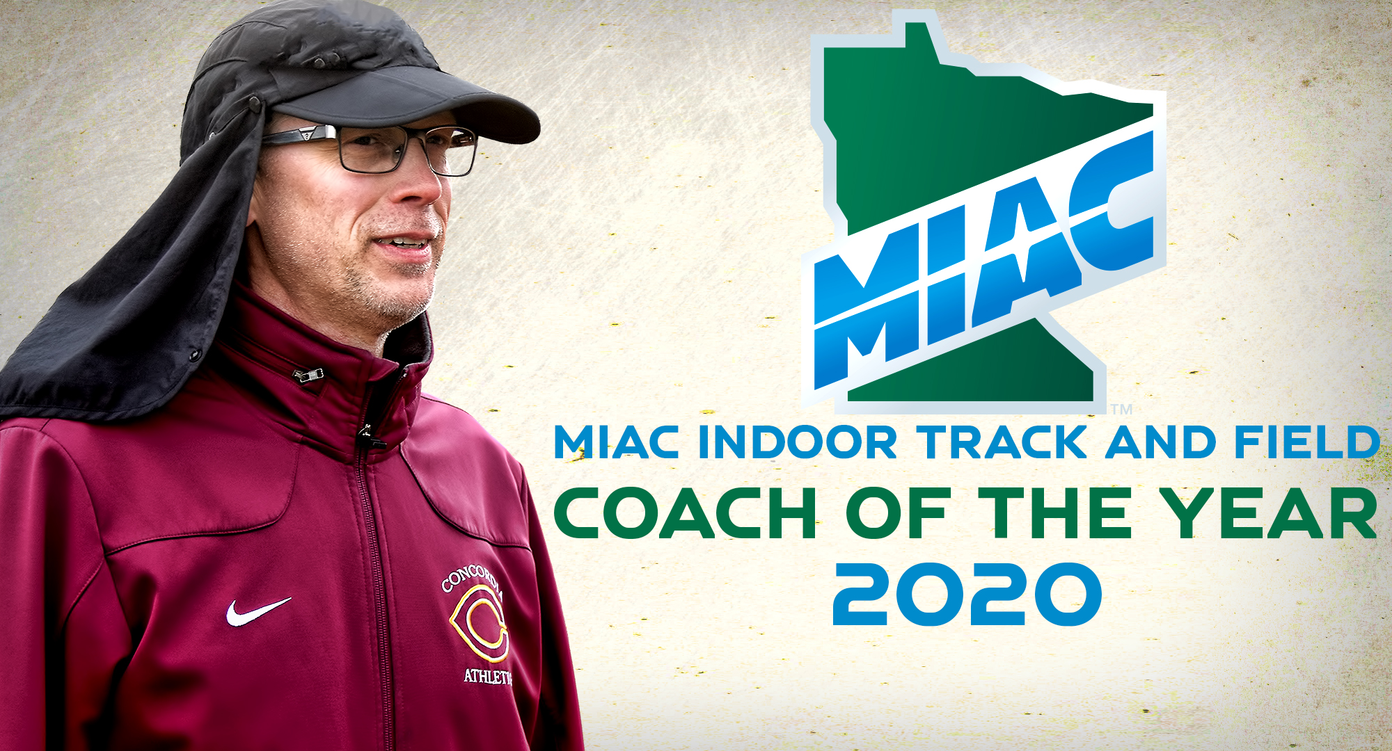 Garrick Larson was named the MIAC Indoor Track and Field Coach of the Year for guiding the Cobbers to a second-place finish at the MIAC Indoor Meet.