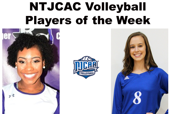 NTJCAC Volleyball Players of the Week (Oct. 9)