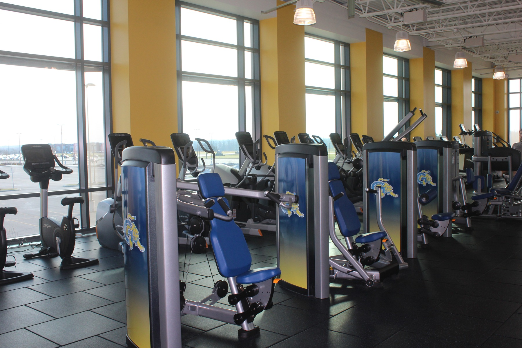 The state of the art Fitness Center located inside the Richard C Call Arena