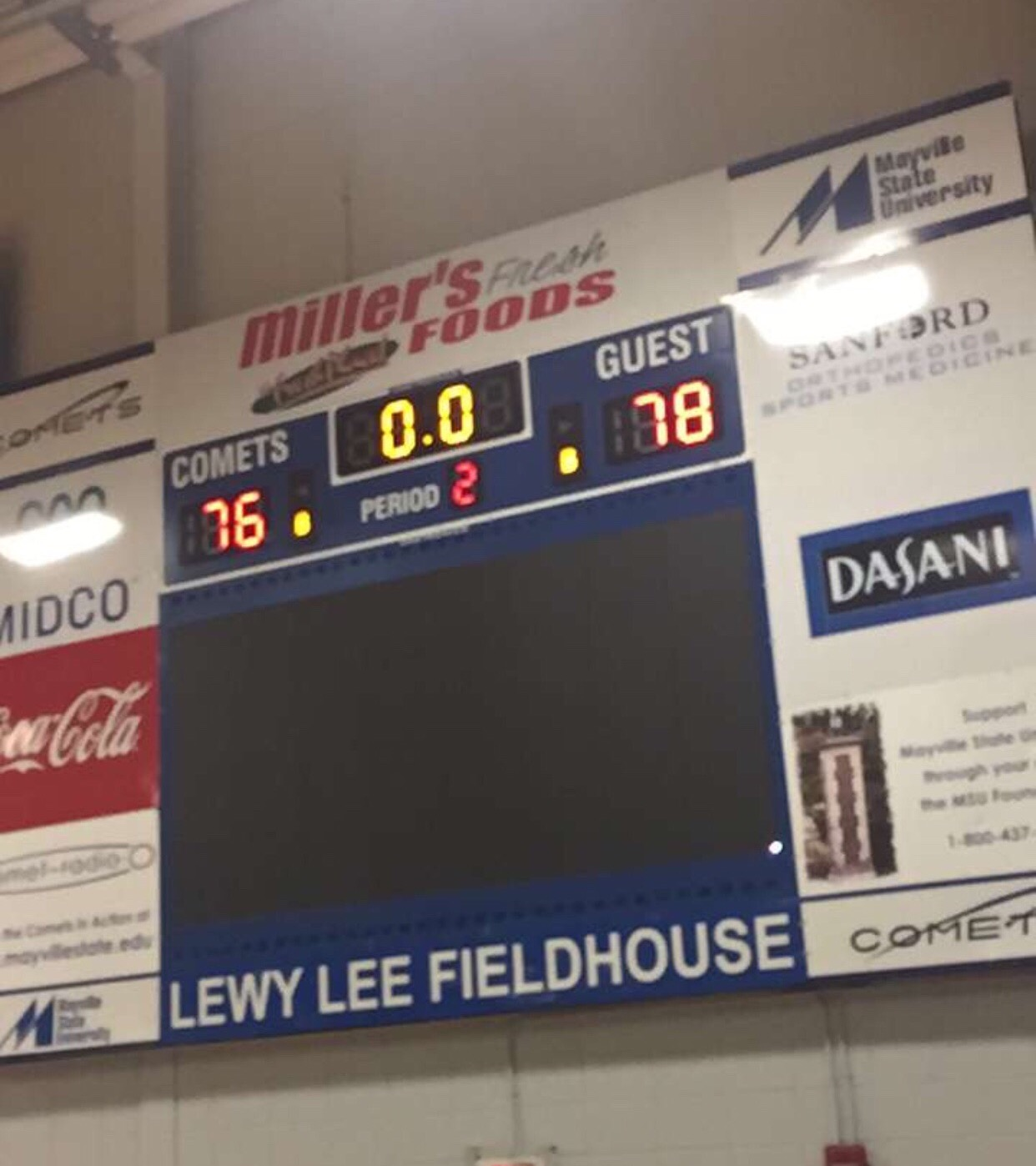 Lions MBB Gets Upset Win at Mayville State (NAIA DII)