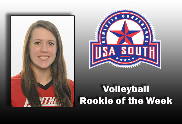 Volleyball: Chancellor selected as USA South Rookie of the Week