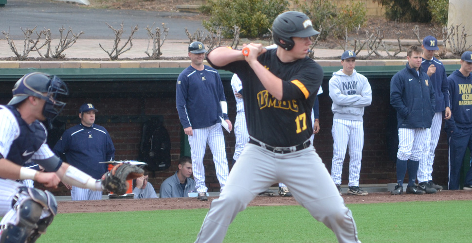 Dolshun Caps Five-Run 6th with First Career Homer as UMBC Downs Navy, 8-3