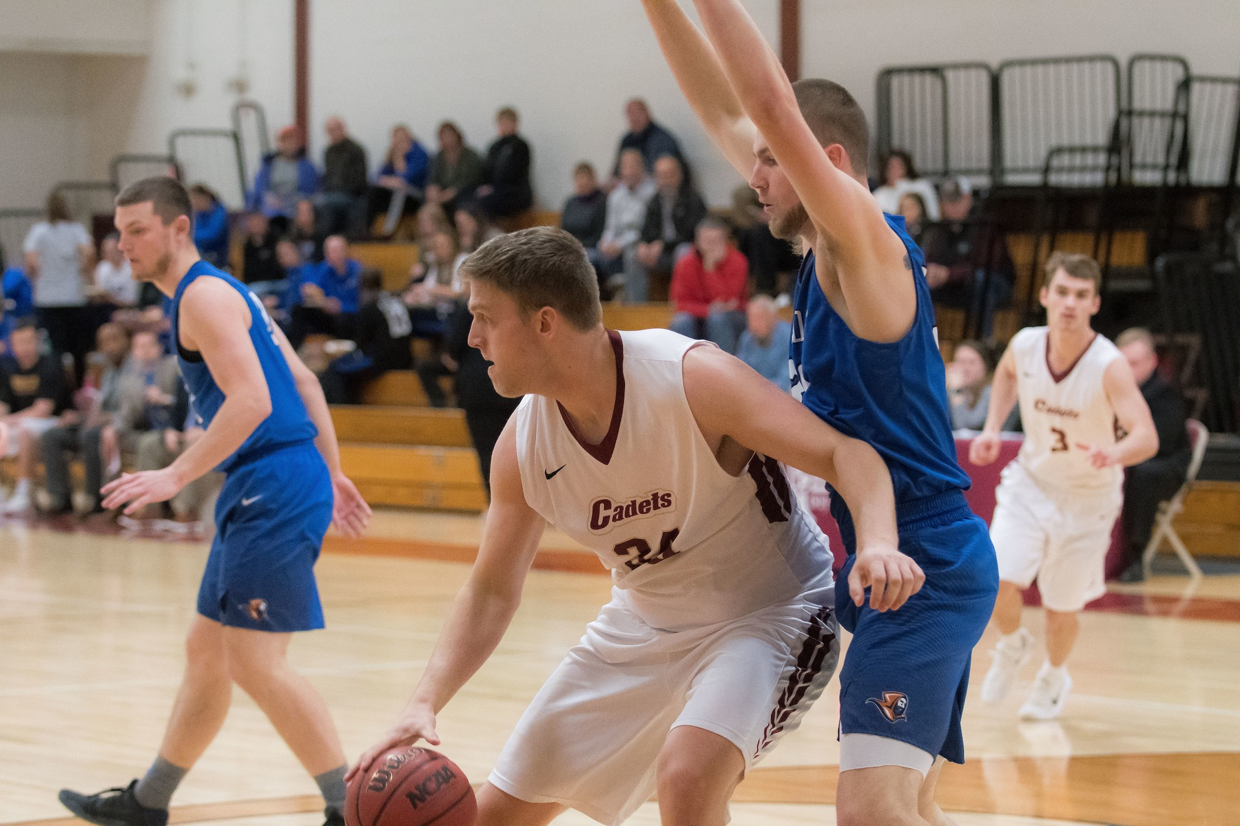 Men's Basketball: Cadets rout Raiders, 84-51