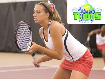 Sophomore Natalie Diorio won both her singles matches on Saturday at the GLIAC Tourney