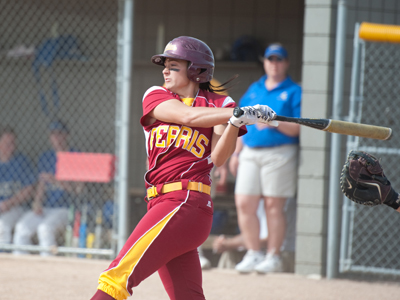 Senior Rhea Flores ripped the game-winning hit in the top of the seventh inning.  (Photo by Ed Hyde)