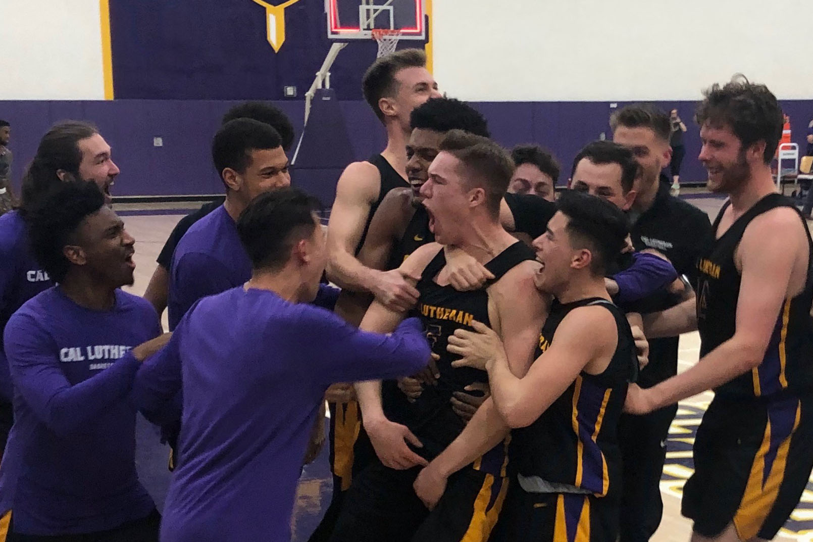 Kyle Ferreira hits a half-court buzzer beater to seal the win against Whittier.