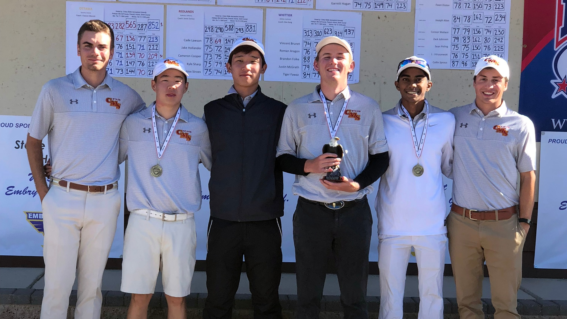 CMS Men's Golf Finishes Second at Embry-Riddle Invite with Three of Top Four Individuals