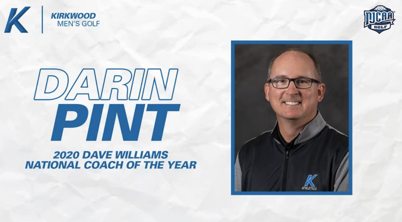 Darin Pint Named Dave Williams National Coach of the Year