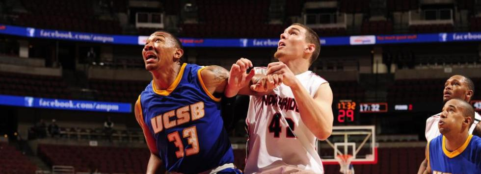 UC Santa Barbara's Orlando Johnson fights for a rebound.