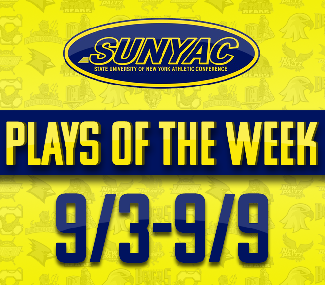 2018 SUNYAC Fall Plays of the Week - Sept. 3-9