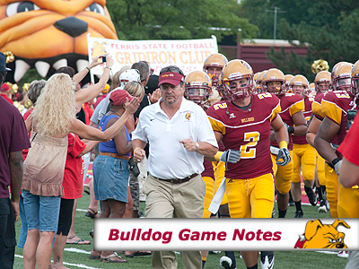 Football Game Notes: Lake Erie (Oct. 1)