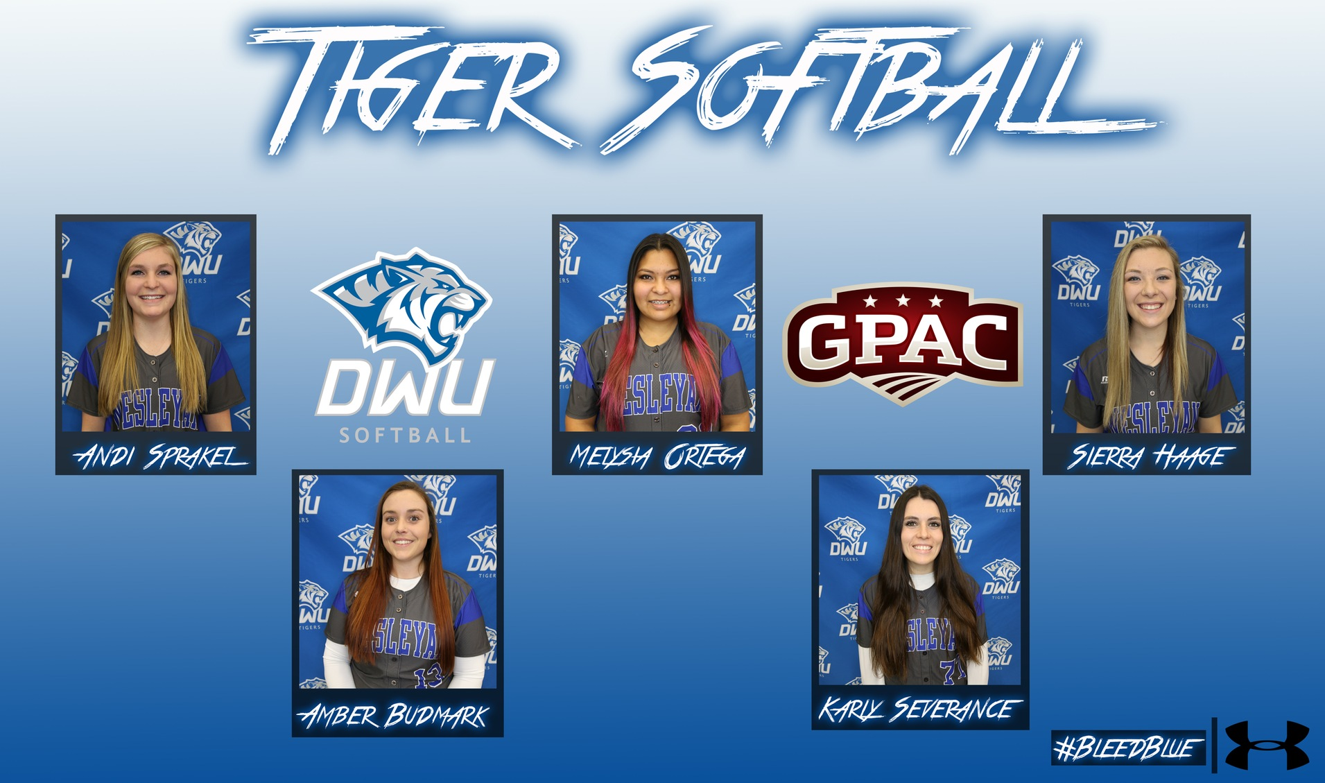 Softball lands five players on All-GPAC Team