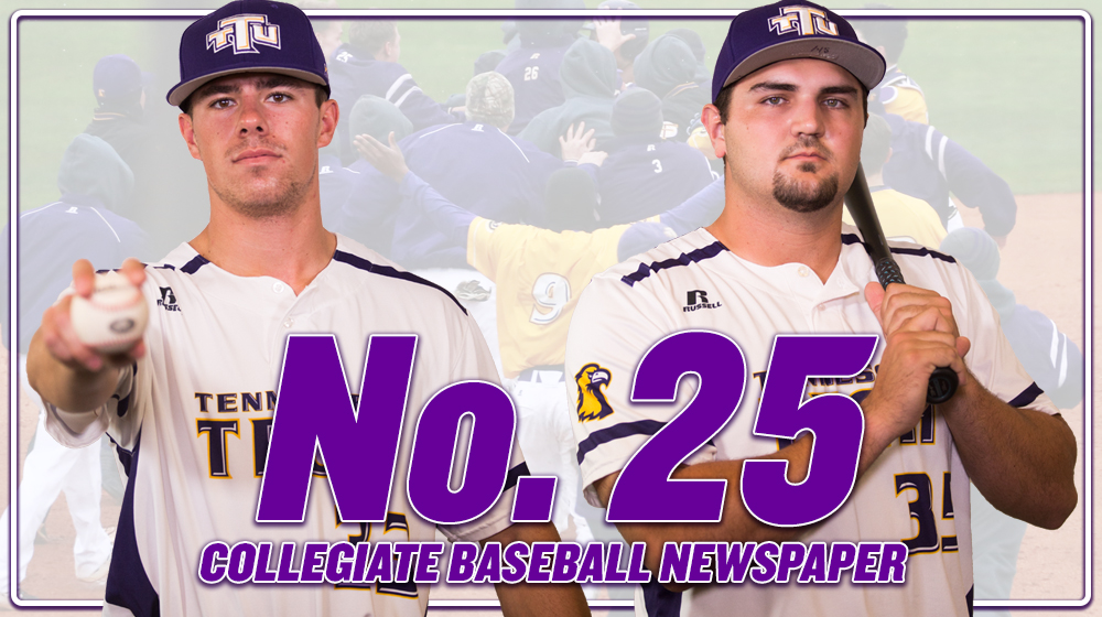 Tech ranked No. 25 by Collegiate Baseball newspaper, highest ranking in program history