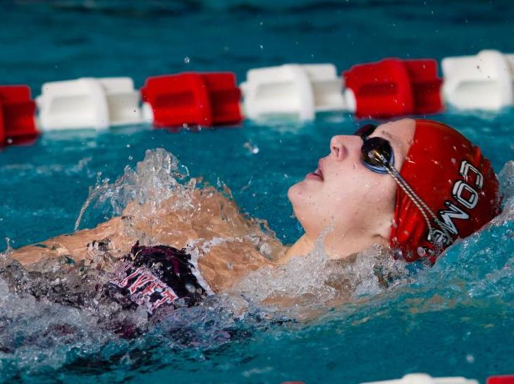 Women's swimming team comes up short against Calvin, 150-85
