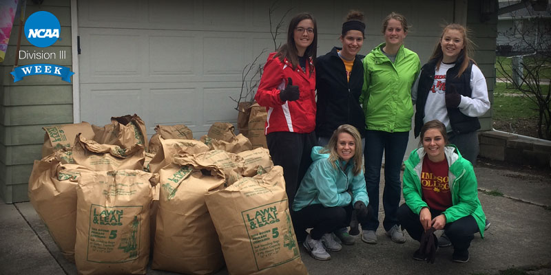 Teams give back for Campus Day,  Division III Week