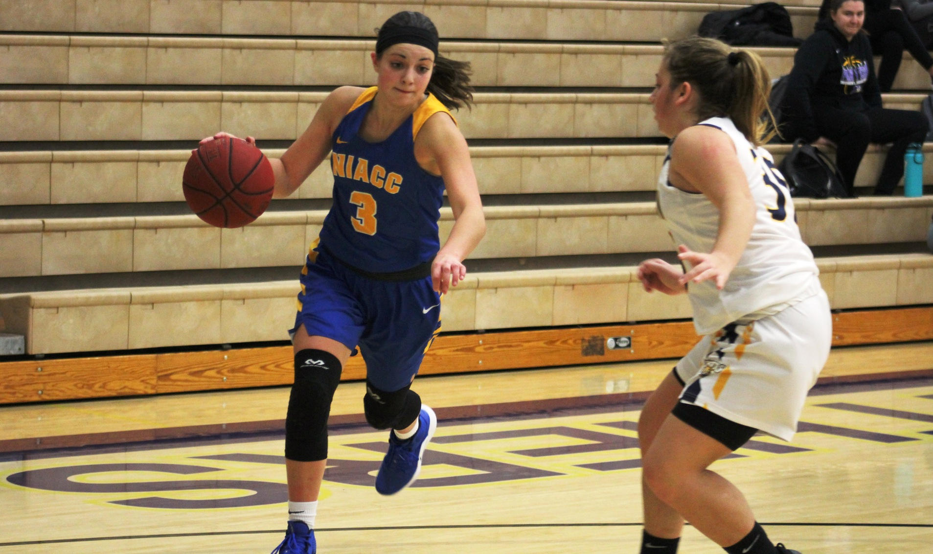 NIACC's Mandy Willems drives to the basket during a game against Marshalltown CC earlier this season.