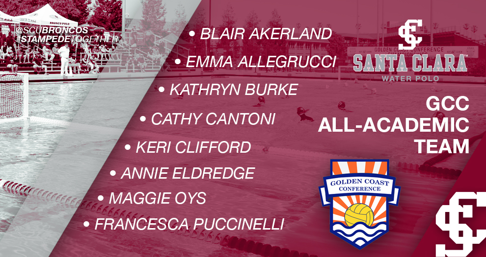 Women's Water Polo Lands Eight on GCC All-Academic Team