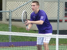Senior David Teres was a first-team all-Landmark Conference selection in singles and doubles last season.